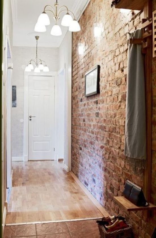 Industrial Entryway Touch With An Exposed Brick Wall