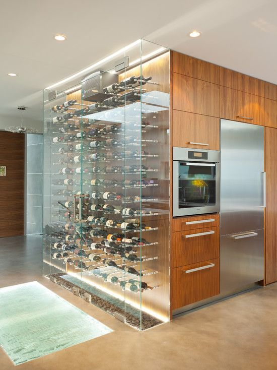 Large Clear Glass Wine Storage Cooler