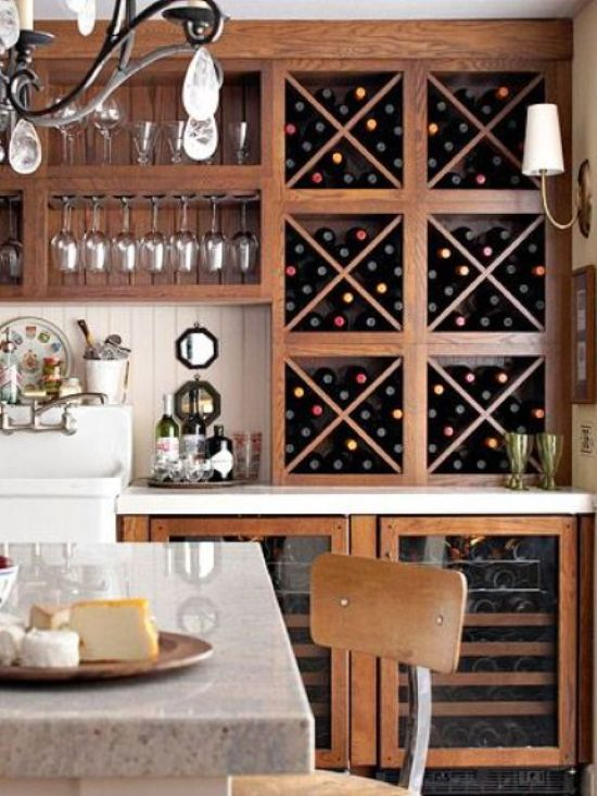 Large Vintage Wine Storage Unit
