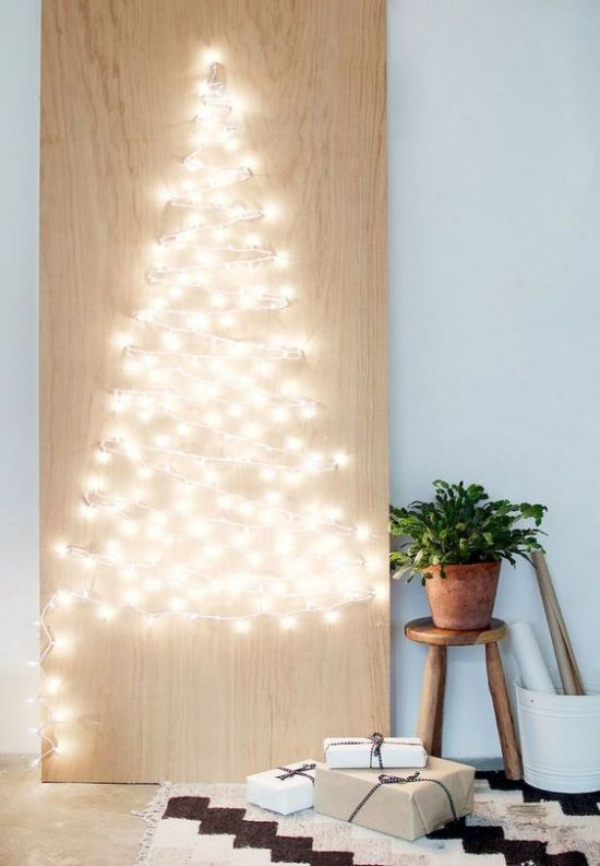 Minimalist Christmas Décor With A Minimalist Christmas Sign With Lights
