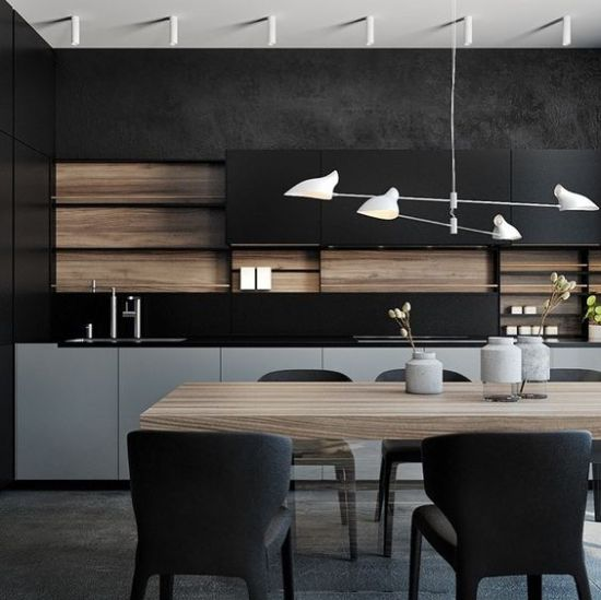 Minimalist Masculine Kitchen In Black