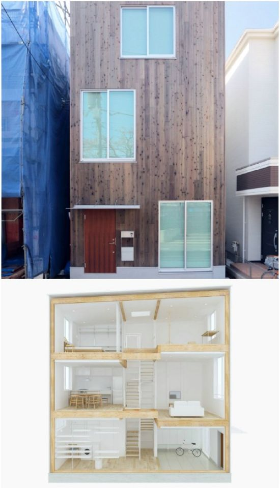 Minimalist Tiny Vertical House By Japanese Brand MUJI