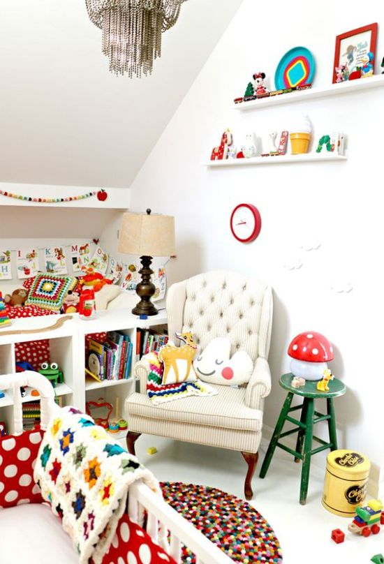 Nursery Decor Ideas With Books And Various Accessories