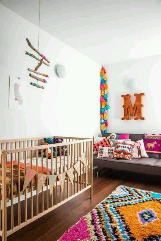 Nursery Decor Ideas With Colorful Tassel Garlands
