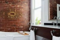 Red Brick Bathroom Wall