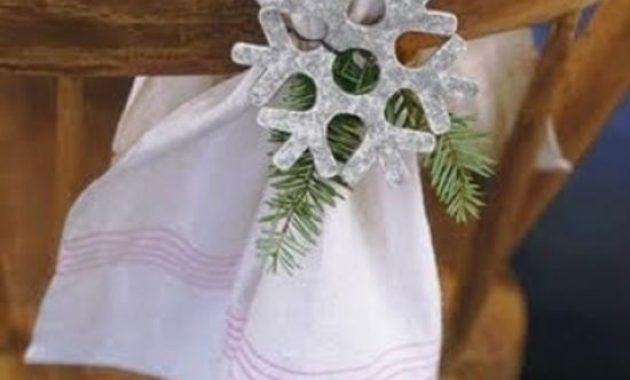 Snowflake Winter Decor For Chair