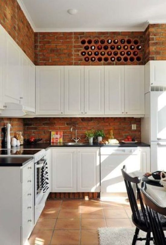 Wine Bottle Storage Built Right Into A Brick Wall