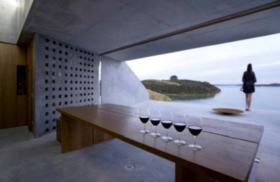 Wine Storage Whole Concrete Wall With Holes
