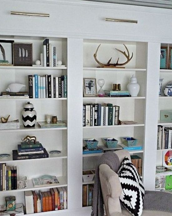 A Bunch Of IKEA Billy Bookcases