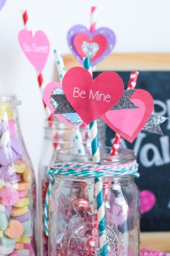 Be Mine Straw Toppers