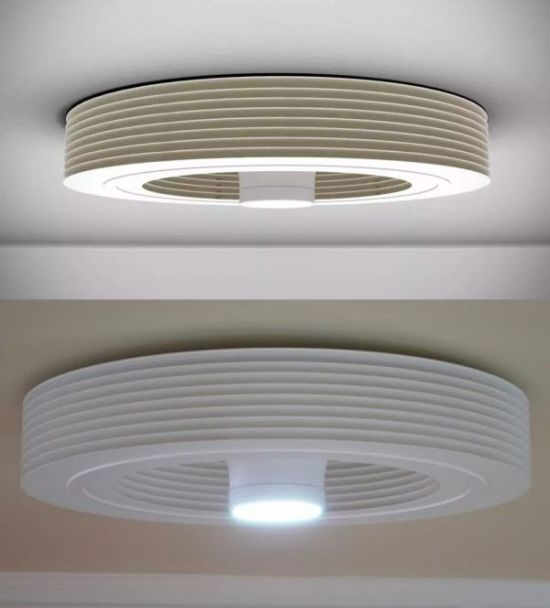 Bladeless Ceiling Fan With Light