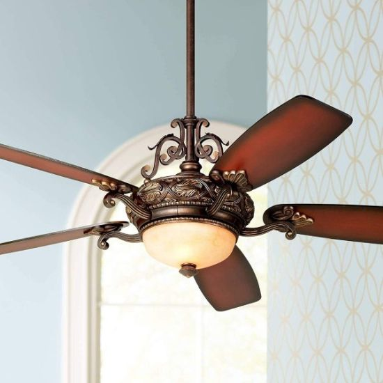 Bronze Finish Ceiling Fan With Light