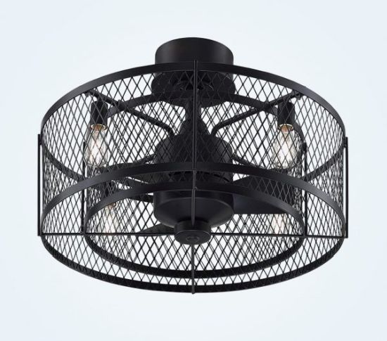 Caged Ceiling Fan With Light