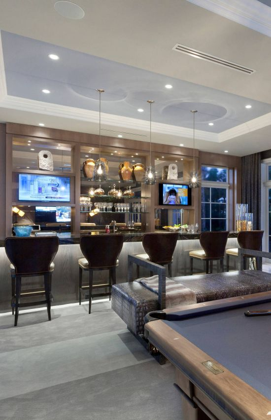 Contemporary Home Bar Ideas By Marc-Michaels Interior Design