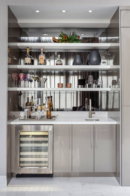 Contemporary Home Bar Ideas Of 2id Interiors