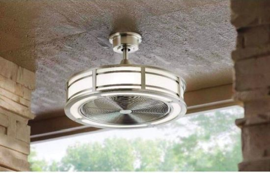 Enclosed Outdoor Ceiling Fan With Light