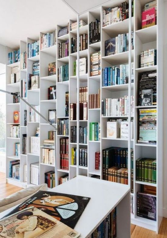 Floor-To-Ceiling IKEA Billy Storage