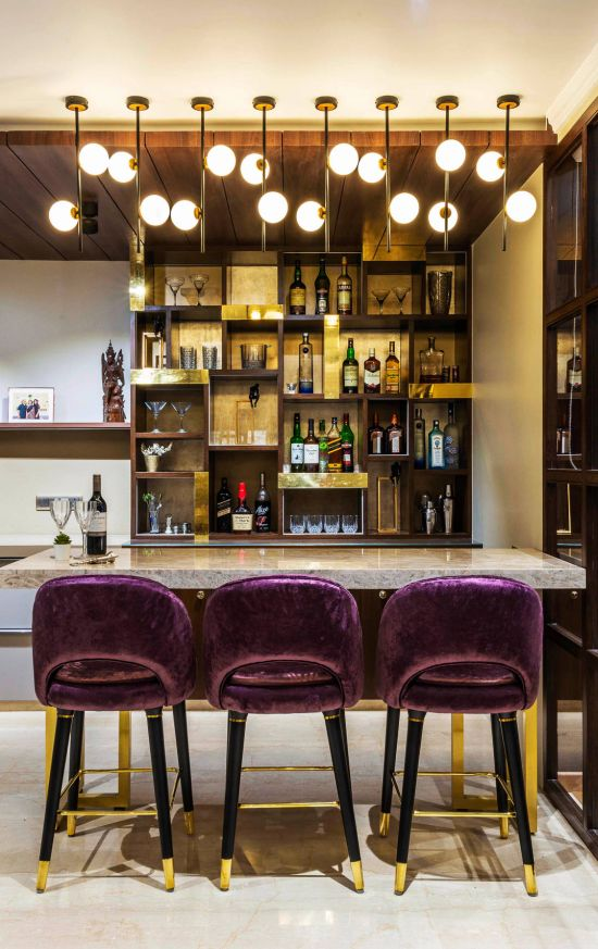 Modern Home Bar Design Ideas By deSigneR - Architects and Interior Designers