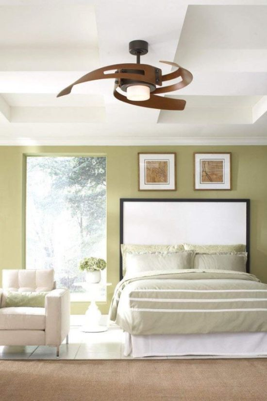 Oil Rubbed Bronze Finish Ceiling Fan With Light