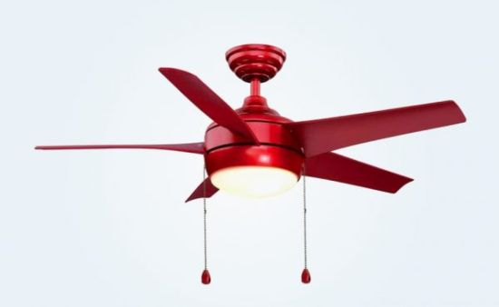 Red Ceiling Fan With Light