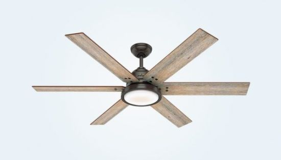 Rustic Ceiling Fan With Light