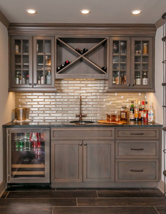 Traditional Home Bar Design Ideas By Trademark Building Company