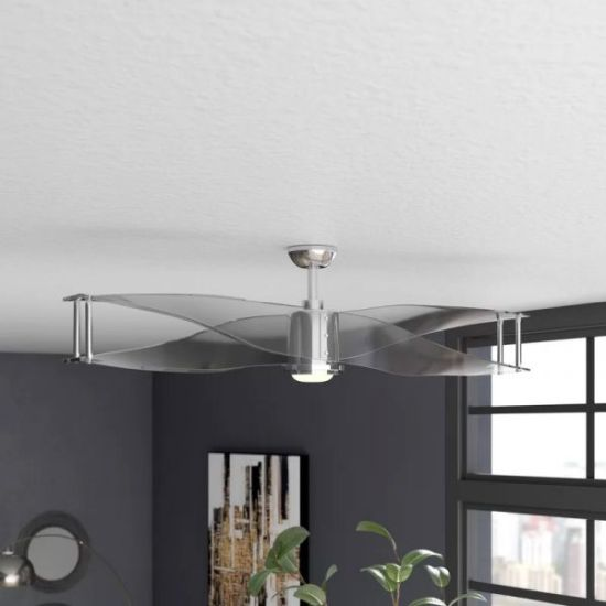 Translucent Blade Ceiling Fan With Light