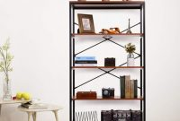 Vintage Industrial Bookcase With 4 Tiers