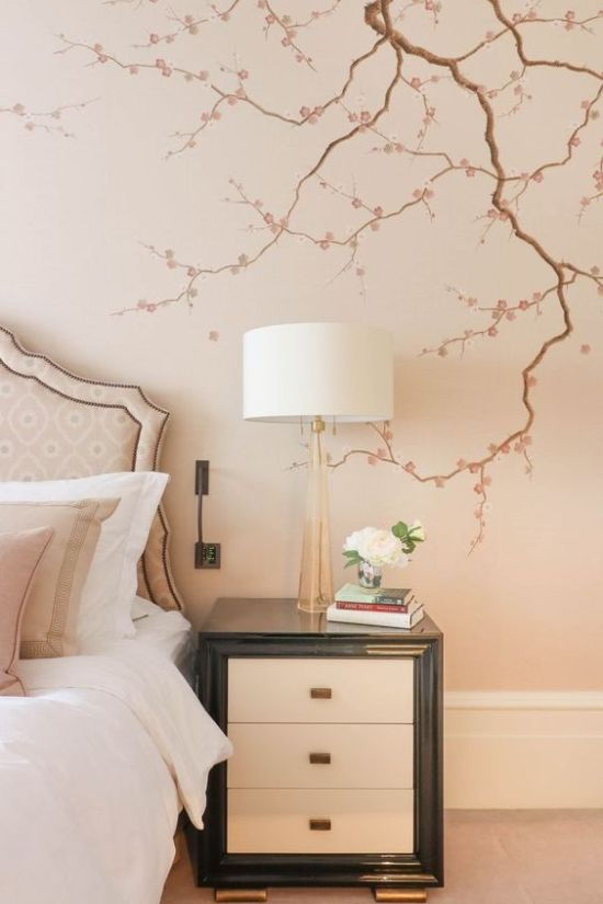 Home Décor With Cherry Blossom Decals On The Wall