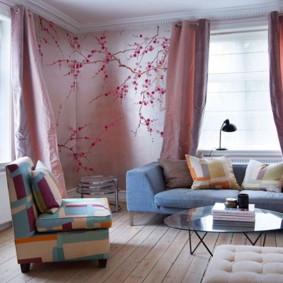 Home Décor With Cherry Blossom Decals On The Walls