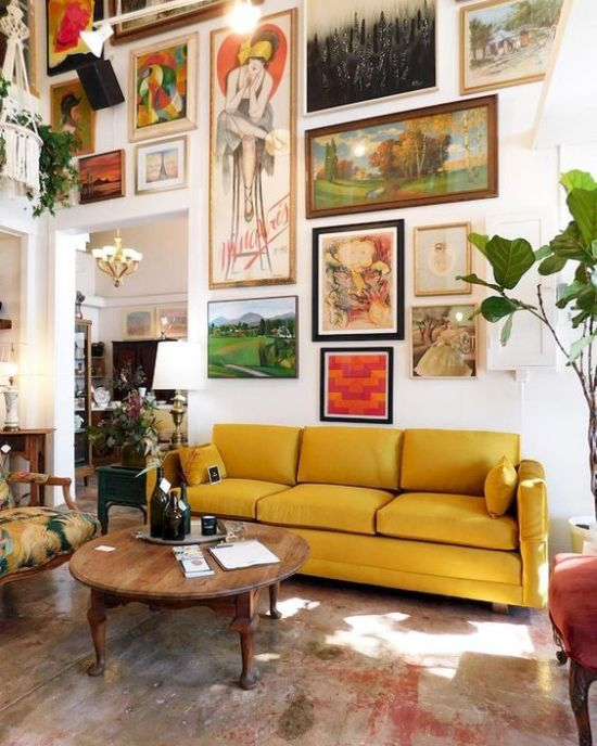 How To Expand Living Room With Colorful Works Of Art