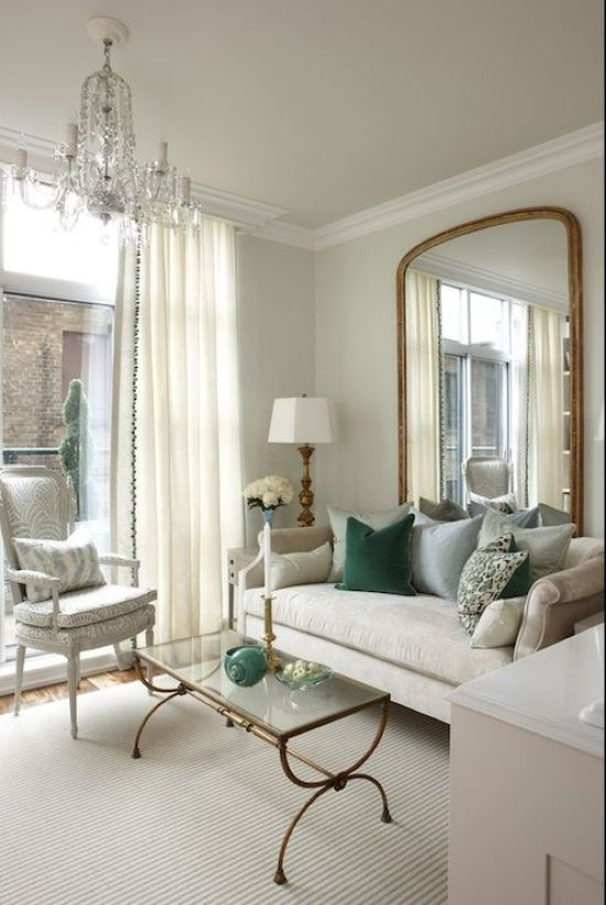 How To Expand Living Room With Floor Length Curtains