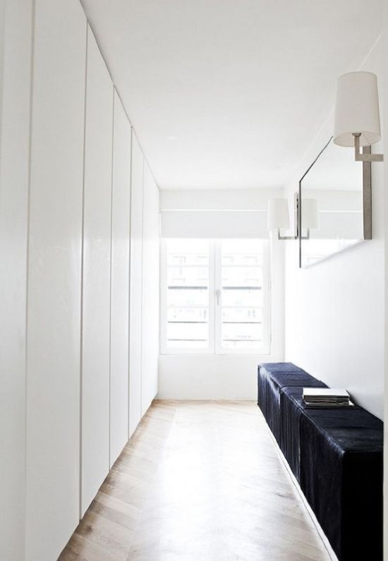 Ultra-Minimalist Closet With Lots Of Wardrobes