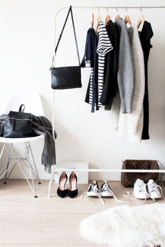 White Makeshift Closet