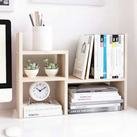 Home Office Organizing With Contemporary Wooden Office Organizer