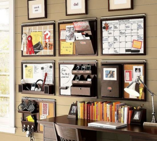 Home Office Organizing With Wall-Mounted Storage Units