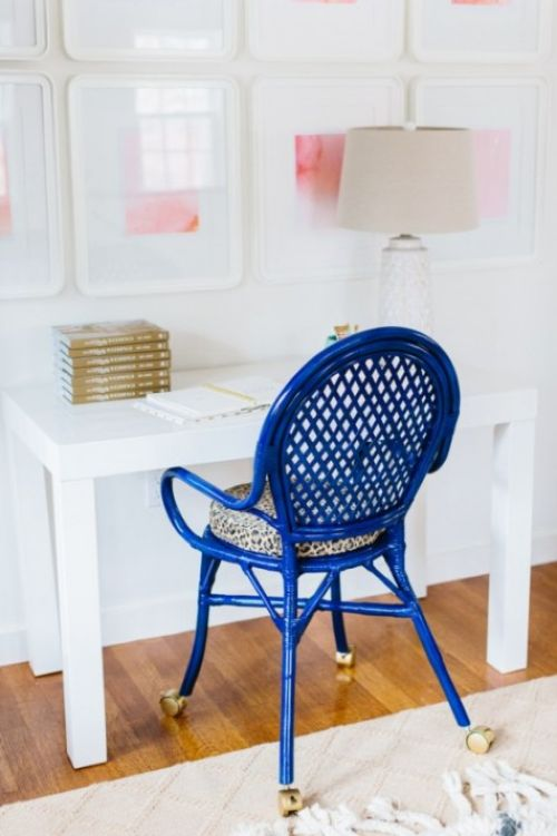 IKEA Cobalt Chair Hack With Leopard Printed Seat