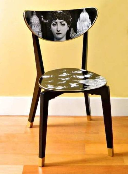 IKEA Dining Chair Renovated With Decoupage