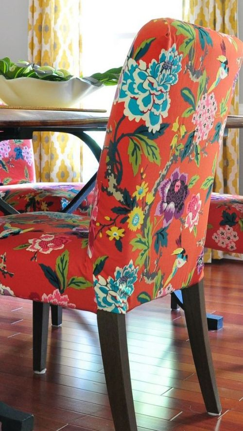 IKEA Henriksdal Hack With Super Bright Floral Fabric