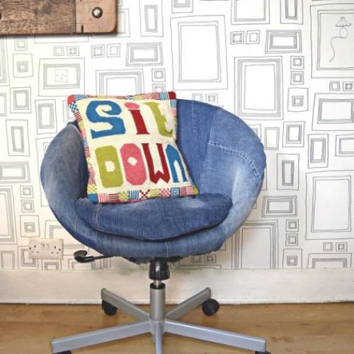 IKEA Skruvsta Chair Renovated With Old Denim