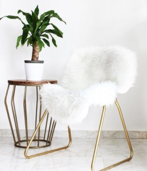IKEA Snille Chair Hack With Gold Spray Paint
