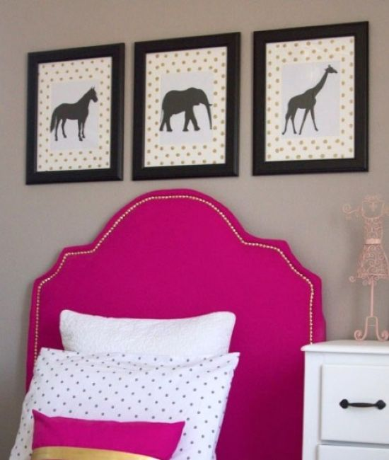IKEA Tarva Bed With A Bright Pink Upholstered Headboard