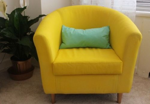 IKEA Tullsta Chair Painted In Bold Yellow