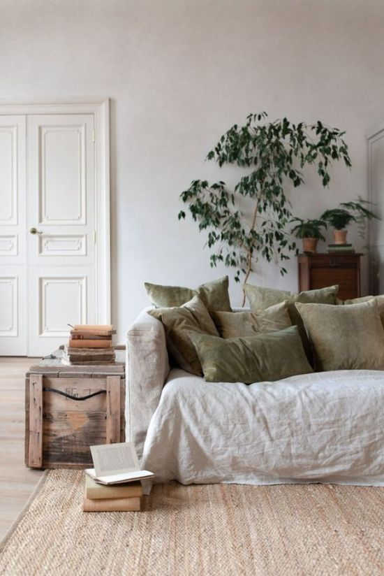 Neutral Living Room Decor In Various Soft Shades