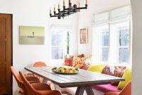 Spanish Home Decor Ideas With Bright Pillows And Warm-Colored Chairs