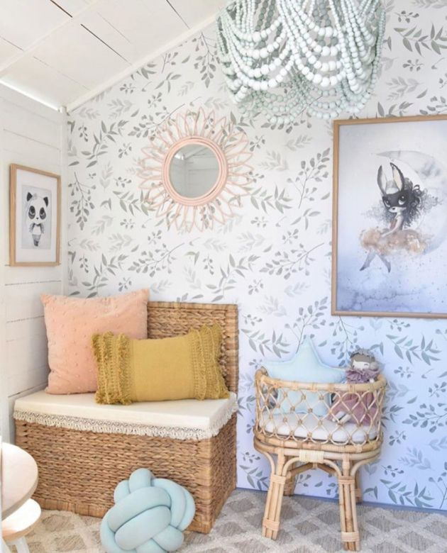 Nursery Decor Trend 2020 With A Delicate Leaf Print Wall