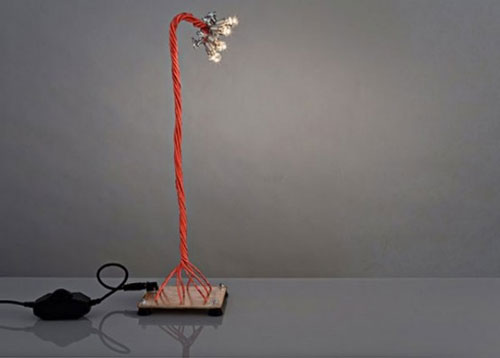Naked table lamp by Shahar Katsav