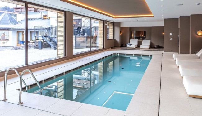 Indoor Swimming Pool Ideas with Furniture for Home