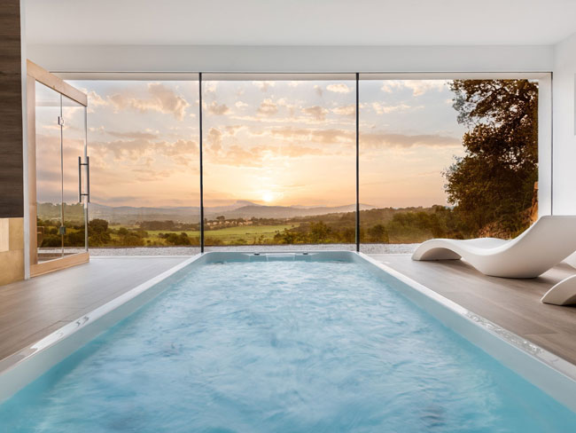 Indoor Swimming Pool Ideas with Outdoor Views for Home